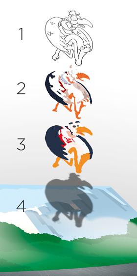 Le fasi del lavoro per il condor. Quattro livelli autonomi.
